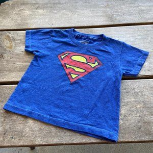Superman Logo Emblem Tee Blue Red Yellow T-Shirt 3